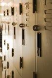 Szkolna korytarz szafki płycizna DOF Zdjęcie Stock