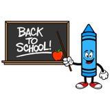 Szkolna kredka z plecy szkoły Blackboard Royalty Ilustracja