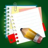 Szkolne papierowe notatki Zdjęcie Royalty Free