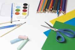 Szkolni akcesoria dla twórczości obraz royalty free