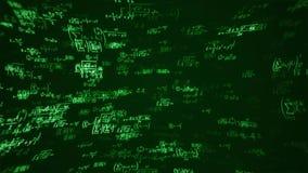 Szkolni matematyk równania na Chalkboard Flyby zapętlają płynnie royalty ilustracja