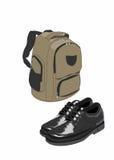 szkolni torba buty Zdjęcie Royalty Free