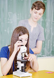 Szkolni ucznie Zdjęcia Royalty Free