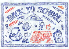 Szkolni zabaw doodles Zdjęcia Stock