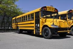 szkolny autobusu kolor żółty jeden Zdjęcie Stock