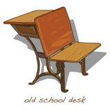 Szkolny biurko rocznika wektor royalty ilustracja