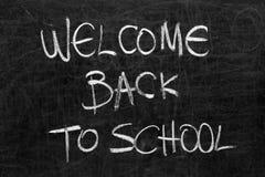 Szkolny blackboard z wiadomością Zdjęcia Royalty Free