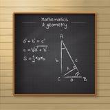 Szkolny chalkboard na drewnianym tle Zdjęcia Stock