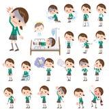 Szkolny dziewczyny zieleni blezer O chorobie Fotografia Royalty Free