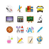 szkolny ikona set Zdjęcia Royalty Free