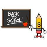Szkolny ołówek z plecy szkoły Blackboard Royalty Ilustracja