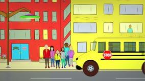 Szkolny Pickup ilustracji