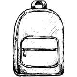 Szkolny plecak Zdjęcia Stock