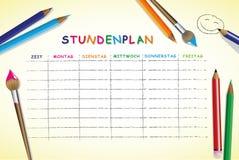 Szkolny rozkład zajęć dla, bezpłatne przestrzenie dla notatek i ilustracji