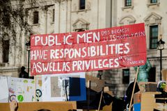 Szkolny strajk dla zmiana klimatu obrazy royalty free