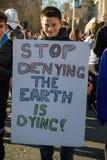 Szkolny strajk dla zmiana klimatu zdjęcia royalty free