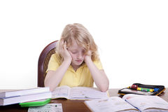 szkolny stres zdjęcia stock