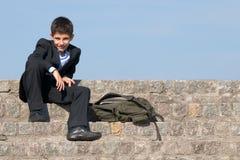 szkolny uśmiechnięty studencki pomyślny Fotografia Stock