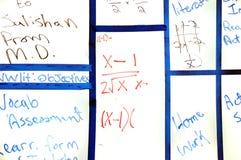 szkolny whiteboard obrazy stock