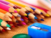 szkolny zamknięte szkolne dostawy Obrazy Royalty Free