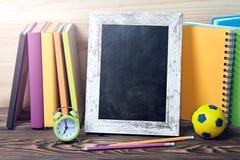 Szkolnych dostaw blackboard ramy tło Obraz Stock