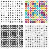 100 szkolnych ikon ustawiający farba wektorowy wariant ilustracja wektor