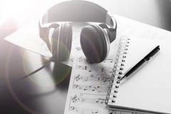 Szkotowa muzyka z liczbą akcesoria Obraz Royalty Free