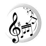 Szkotowej muzyki znaki jako melodia symbol ilustracja wektor