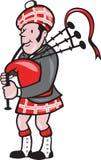 Szkotu Bagpiper kobz kreskówka royalty ilustracja