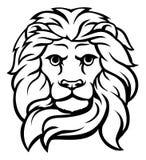 Szlachetny lew głowy pojęcie Obrazy Stock