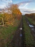 szlak z gospodarstw rolnych obrazy stock