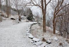 szlakowa zbocze zima zdjęcie royalty free