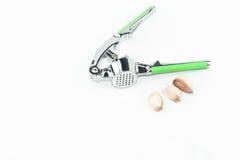 Szlifierski ciężki skorupa kraba narzędzie, zdruzgotany czosnku narzędzie odizolowywa Fotografia Stock