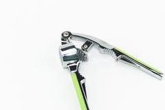 Szlifierski ciężki skorupa kraba narzędzie, zdruzgotany czosnku narzędzie odizolowywa Zdjęcie Royalty Free