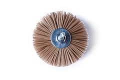 Szlifierski szczotkarski nylon dla świderu na białym tle Zdjęcie Stock