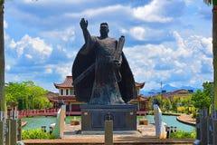Szmaragdowa Cheng statua W Kuching Ho, Sarawak Symbolizuje wi?? Mi?dzy I krawaty Malezja I Chiny fotografia royalty free