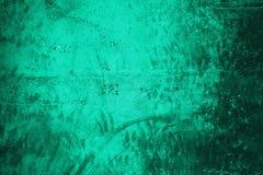 Szmaragdowa grunge ściana zdjęcia stock