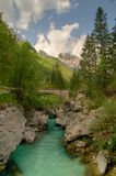 szmaragdowa rzeki Zdjęcia Royalty Free