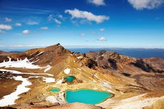 szmaragdowi jeziora nowy Zealand Fotografia Stock