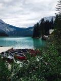 szmaragdowy Canada brytyjski jezioro Columbia lokalizować park narodowy yoho Zdjęcia Royalty Free