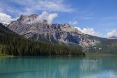 Szmaragdowy jeziorny Banff Yoho park narodowy Obrazy Royalty Free