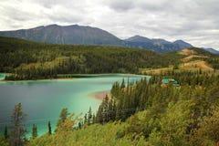 szmaragdowy jeziorny Yukon Obraz Royalty Free
