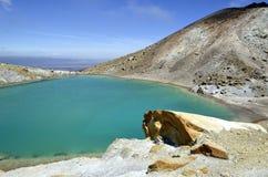 Szmaragdowy jezioro, Nowa Zelandia Obraz Royalty Free