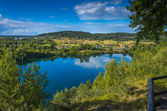 Szmaragdowy jezioro - wyspa Wolina Obraz Royalty Free