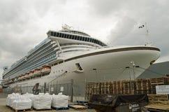 Szmaragdowy Princess statek wycieczkowy, Southampton Zdjęcie Stock