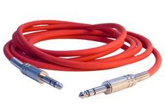 sznura dźwigarek muzykalna czerwień dwa Fotografia Royalty Free