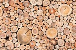 Sznura drewna ogrodzenie Fotografia Royalty Free