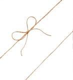 Sznurek i łęk odizolowywający na białym tle Obraz Royalty Free