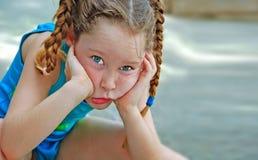 sznurków słodką dziewczynę obraz stock