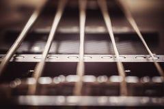 Sznurki Jazzowa Basowa gitara Fotografia Stock